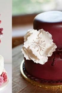 Najlepše mladenačke torte u boji crvenog vina