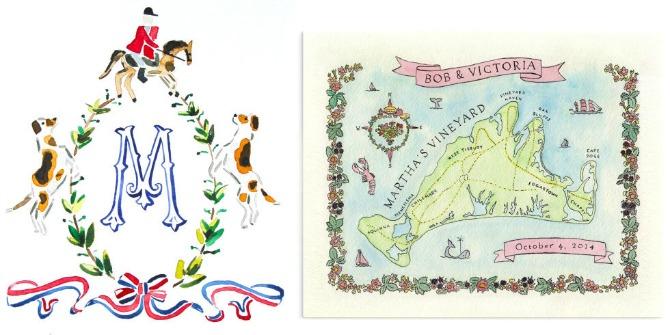 pozivnice u vidu ilustracija Pozivnice za venčanje u vidu ilustracija