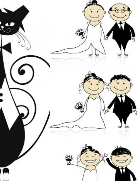 Pozivnice za venčanje u vidu ilustracija