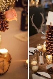 Budite originalni i venčanje dekorišite šišarkama