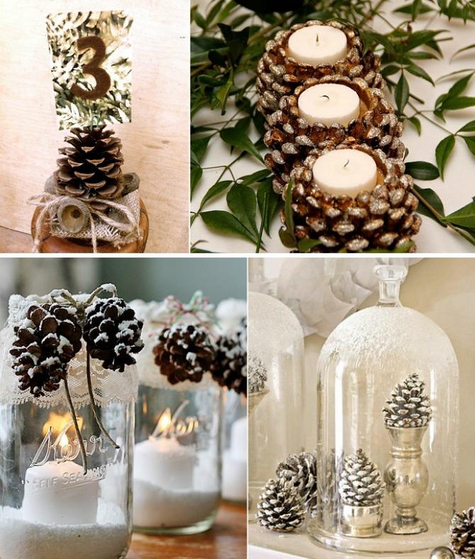 sisarke dekoracija Budite originalni i venčanje dekorišite šišarkama