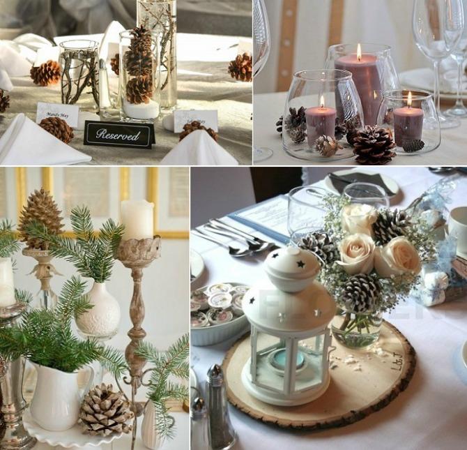 sisarke dekoracija1 Budite originalni i venčanje dekorišite šišarkama