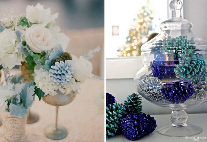 sisarke dekoracija3 Budite originalni i venčanje dekorišite šišarkama