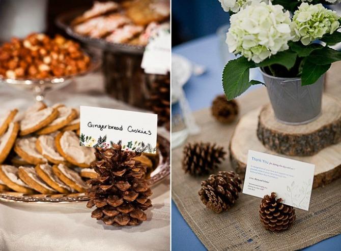 sisarke dekoracija4 Budite originalni i venčanje dekorišite šišarkama