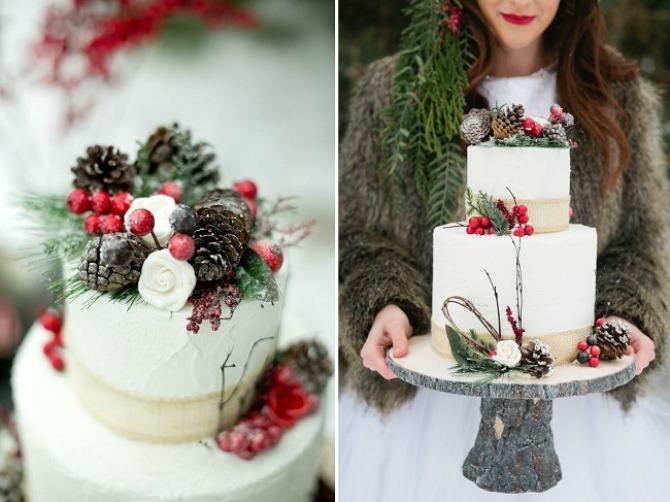 sisarke dekoracija6 Budite originalni i venčanje dekorišite šišarkama