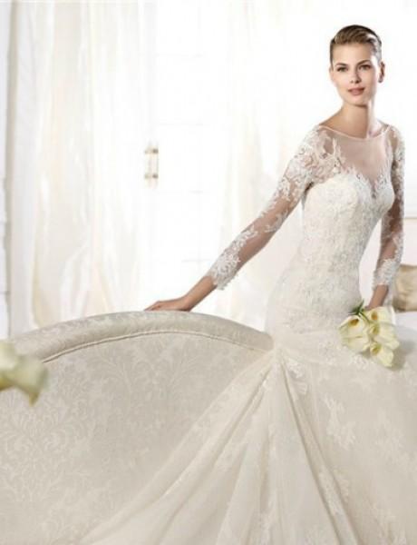 Najlepše venčanice dugih rukava sirena kroja