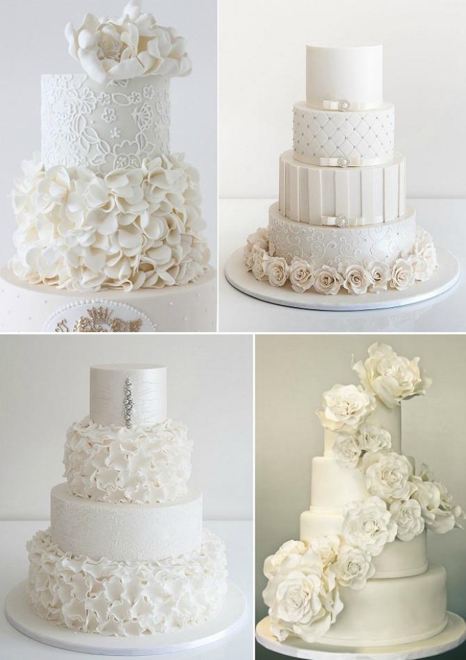 bela mladenacka torta Bela mladenačka torta za zimsko venčanje