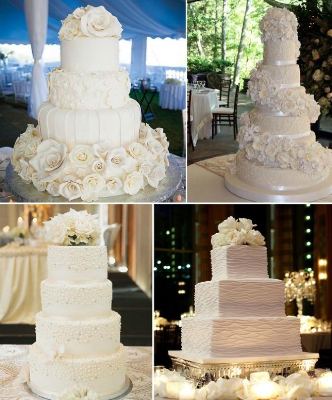 bela mladenacka torta2 Bela mladenačka torta za zimsko venčanje