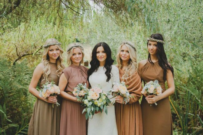 braon boja na vencanju Obojite vaše venčanje u braon