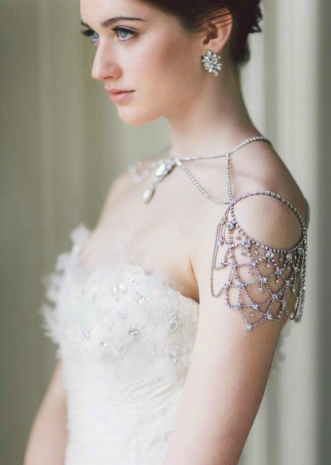 nakit za ramena1 Nakit za ramena za savršen izgled na venčanju