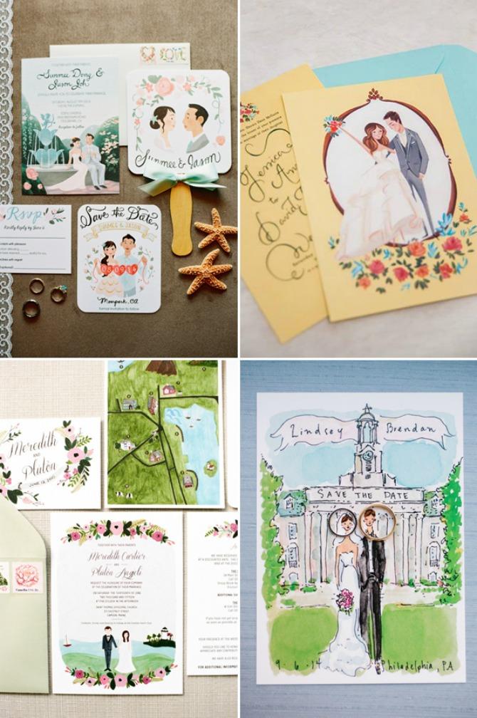 pozivnice za goste ilustracija Kakve POZIVNICE za venčanje će biti u TRENDU ove godine
