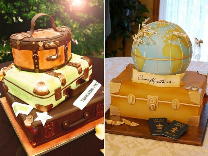 torta5 Tematska venčanja: Neka PUTOVANJA budu tvoja inspiracija