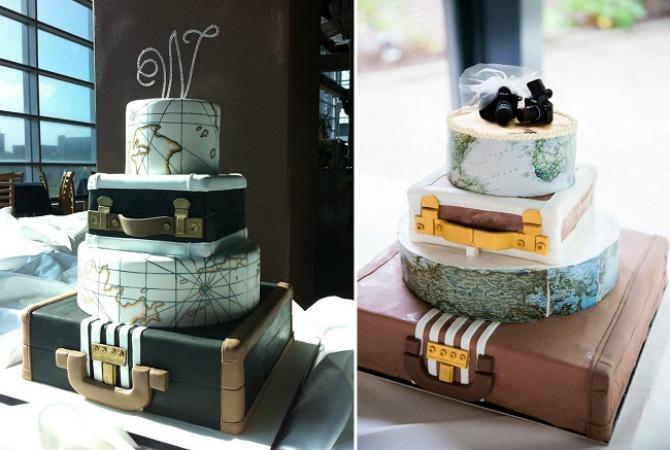 torta6 Tematska venčanja: Neka PUTOVANJA budu tvoja inspiracija