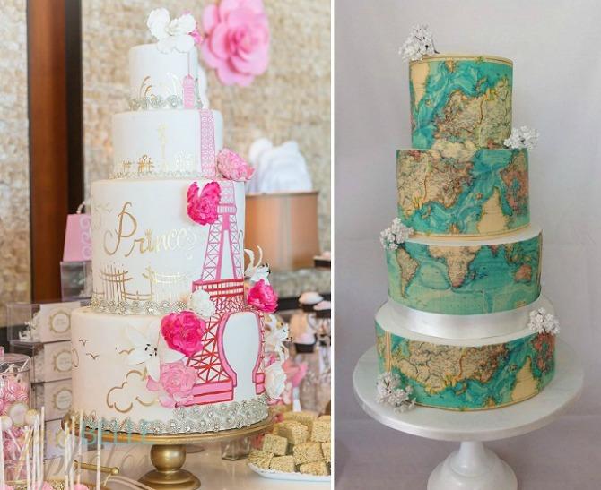 torta7 Tematska venčanja: Neka PUTOVANJA budu tvoja inspiracija