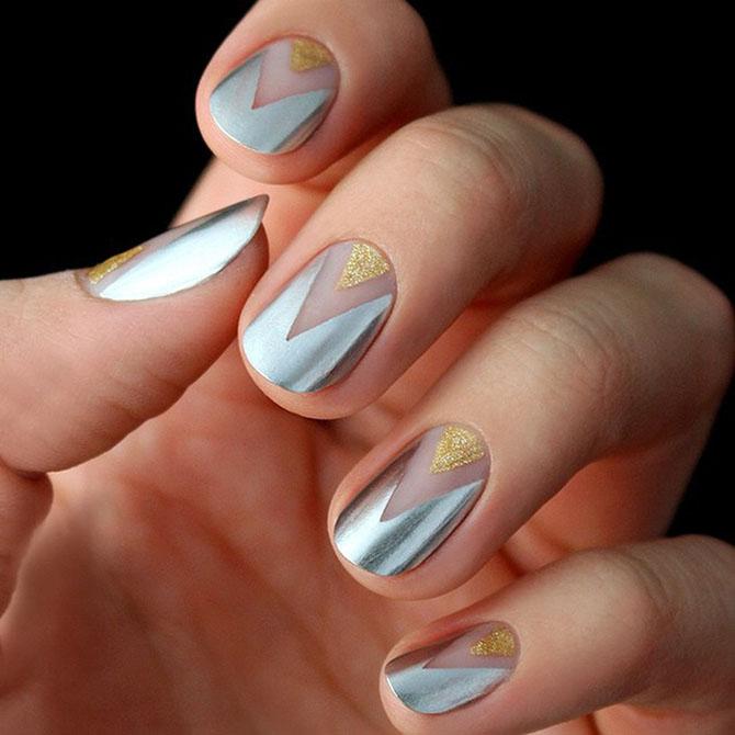 1 Ideje za manikir: METALIK nokti