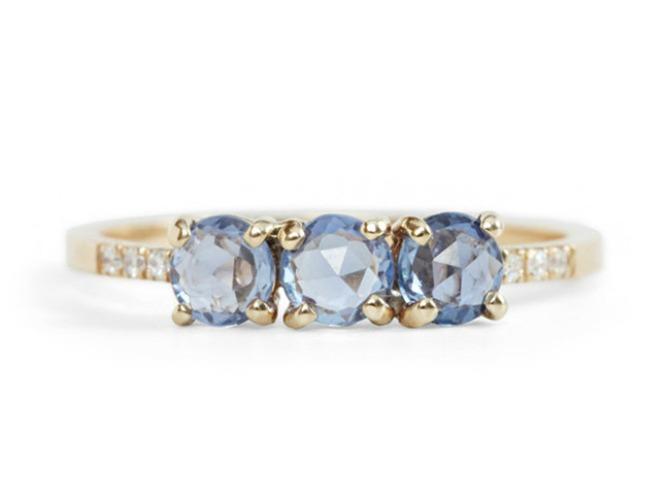 2 plavi safir Najlepše vereničko prstenje u boji (GALERIJA)
