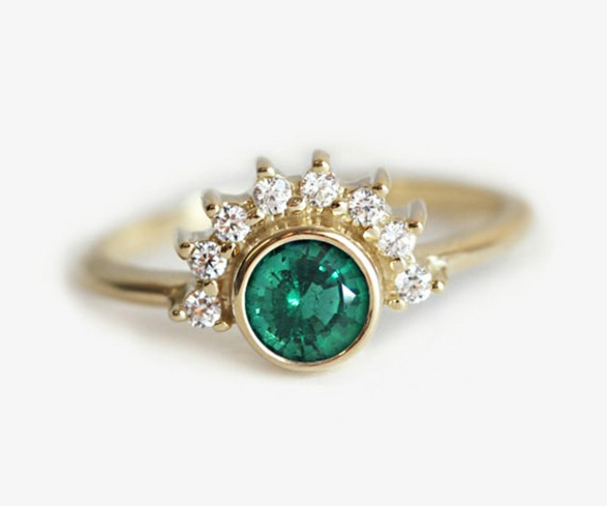 3 smaragd prsten Najlepše vereničko prstenje u boji (GALERIJA)