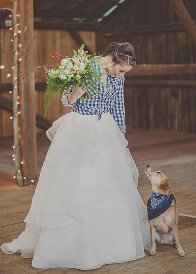 kosulja vencanica1 Novi trend nošenja venčanice koji morate isprobati!