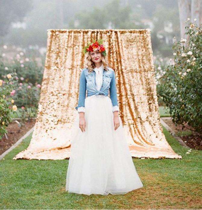 teksas i vencanica Novi trend nošenja venčanice koji morate isprobati!