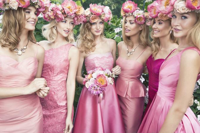 4444 Najbolje drugarice u ROZE haljinama na dan vašeg venčanja
