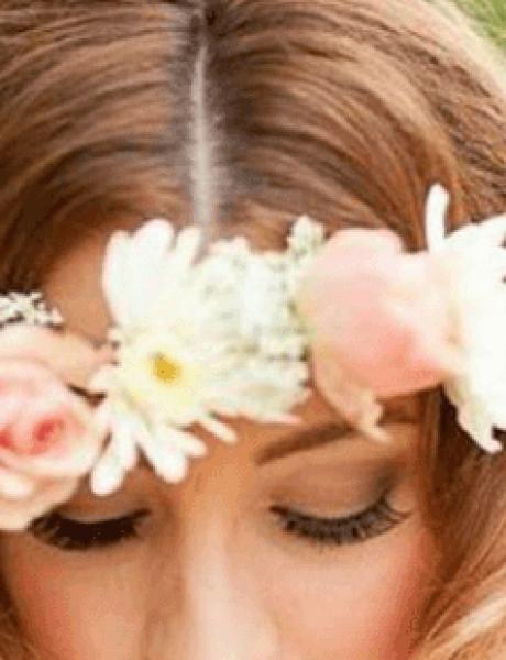 Cveće u kosi za ROMANTIČNE neveste