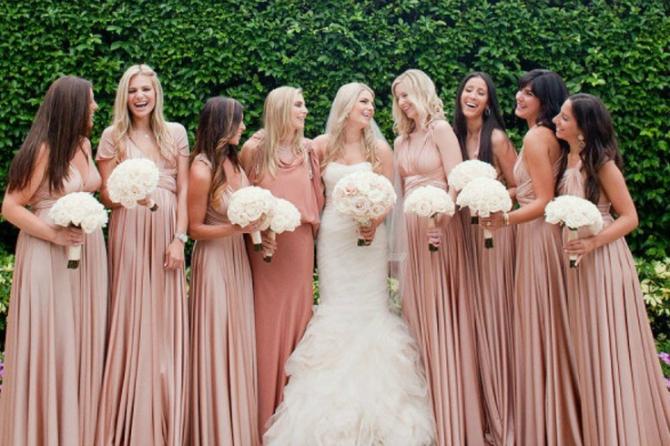 Deveruše 1 Najbolje drugarice u ROZE haljinama na dan vašeg venčanja