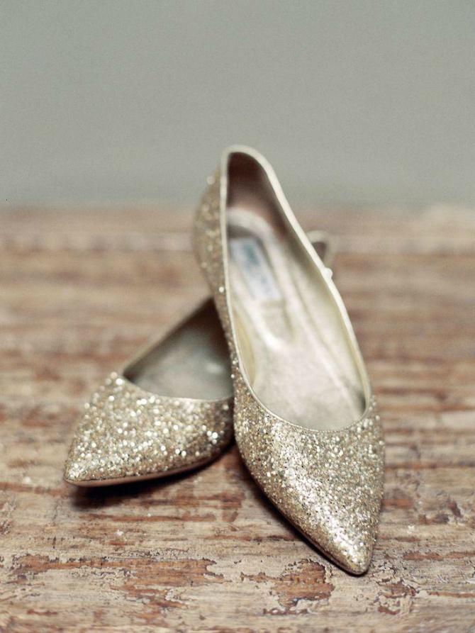 Zlatne Savršene RAVNE cipele za buduće mlade