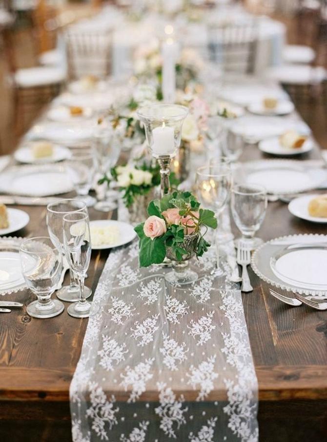 661 Dekoracija od ČIPKE za vaše venčanje