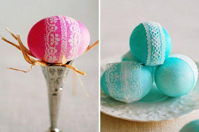 Cipka jaja 670x446 Neobični načini za ŠARANJE uskršnjih jaja