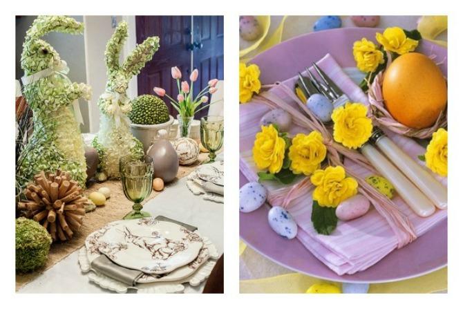 DEKORACIJA stola za Uskrs3 Maštovita DEKORACIJA stola za Uskrs