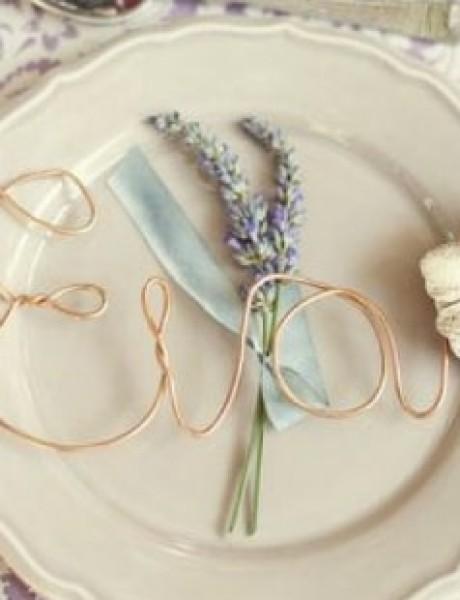 Dekoracija od ČIPKE za vaše venčanje