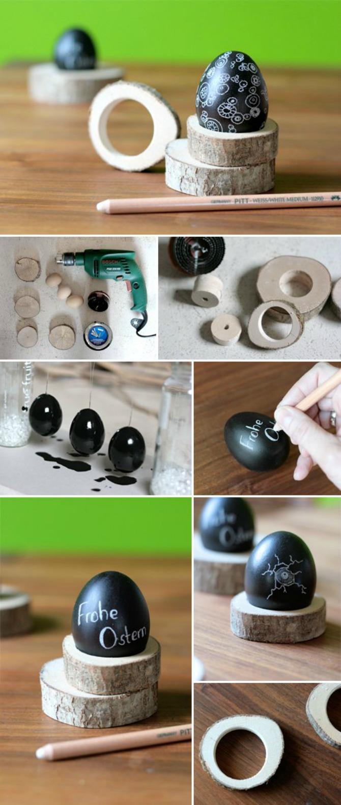 Drveni držač u obliku prstena Napravite sami mališanima DRŽAČE za jaja
