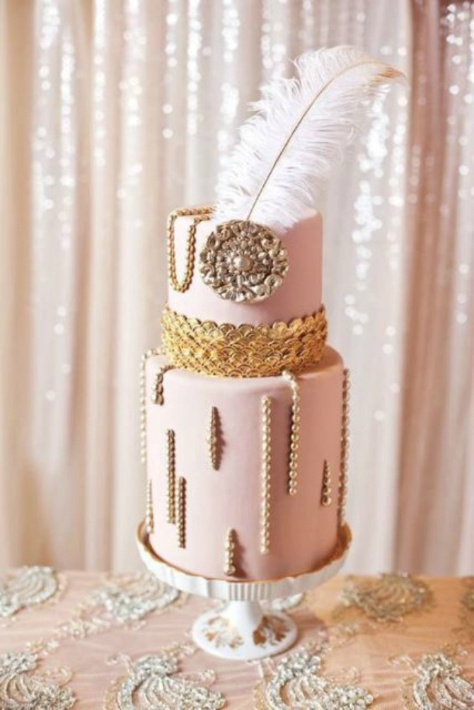 mladenačke torte ukrašene perjem2 Moderne mladenačke torte ukrašene perjem (GALERIJA)