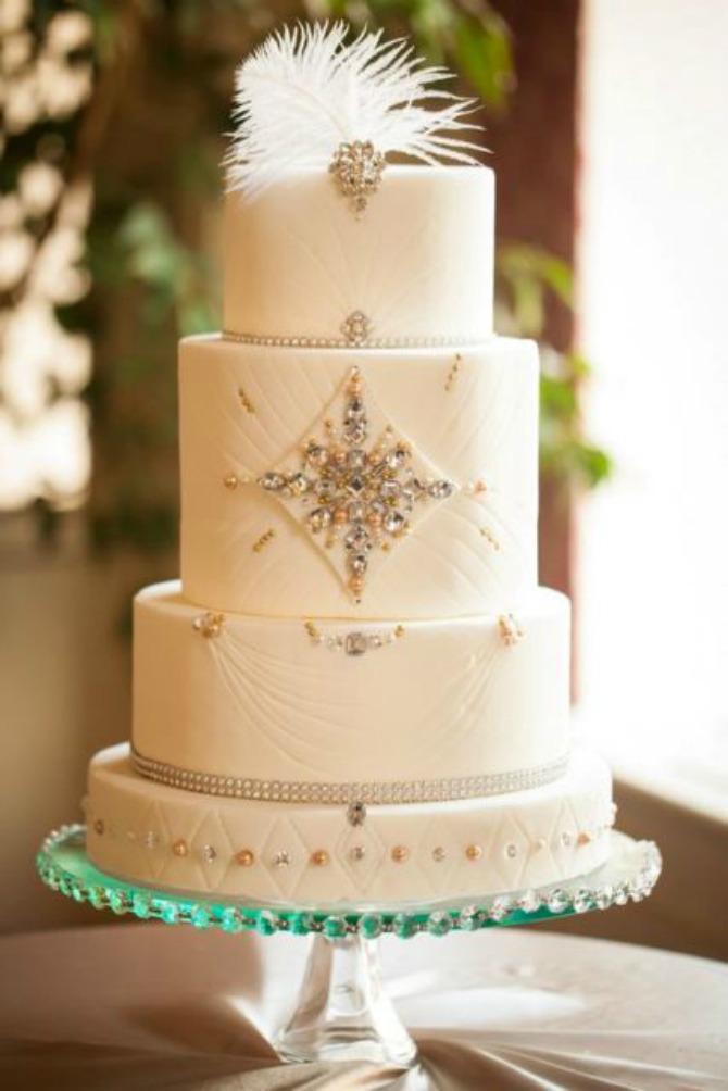 mladenačke torte ukrašene perjem22 Moderne mladenačke torte ukrašene perjem (GALERIJA)