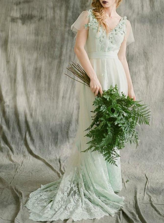 zelena vencanica Najlepše venčanice ZELENE boje