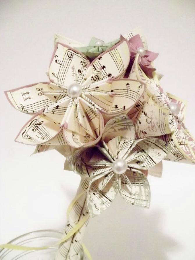 Origami buket Nesvakidašnje ideje za bidermajer
