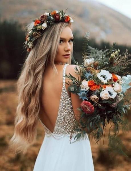 Svadbeni ukrasi za kosu od prirodnog cveća