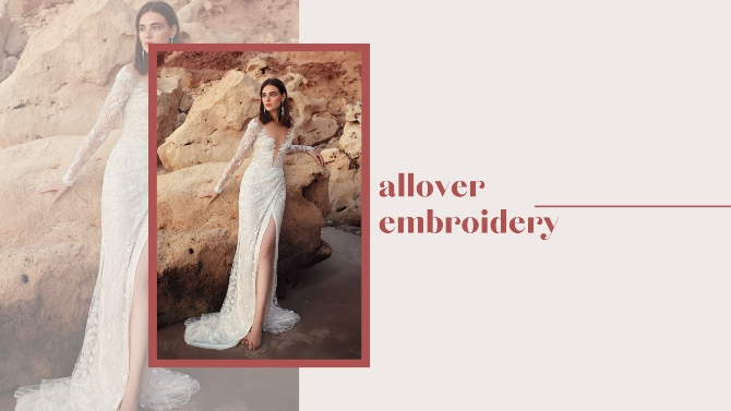 allover embroidery Nove venčanice Galie Lahav za 2020. koje će sve mlade želeti!